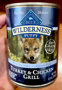 1 Can Blue Buffalo Wilderness High Protein Grain Free Natural Puppy Wet Dog Food