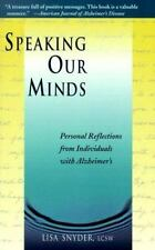 Speaking Our Minds: Personal Reflections from Individuals with Alzheim-ExLibrary
