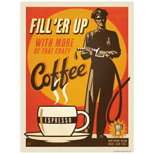 Coffee Fill Er Up Espresso Decal 26 x 34 Peel and Stick Kitchen Decor