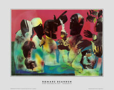 Carolina Shout by Romare Bearden Art Print African American Museum Poster 22x25