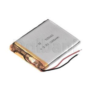 505060, Internal Lithium Polymer Battery 3.7V 2000mAh 50x50x60mm