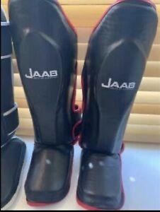 JAAB Mma Shin Guards Black/Red L/XL