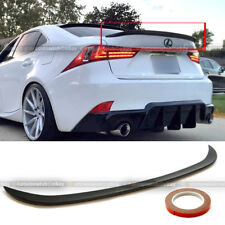 For 14-16 IS250 IS350 JDM Style Poly Urethane Rear Trunk Wing Spoiler Add On