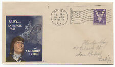 "WWII Patriotic Cover "" Ours .. A Heroic Past and Glorious Future """