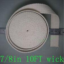 "oil lantern kerosene lamp wick , cotton 7/8"" by 10 FT=3.3 yard no Colored Stitch"
