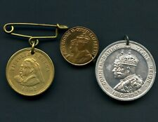 Queen Victoria 1887 King George V 1935 Pendants & King George VI Pin