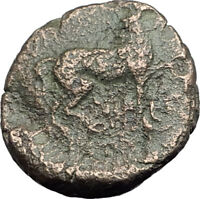 AUGUSTUS 10BC Thessalonica Macedonia Horse Authentic Ancient Roman Coin i63871