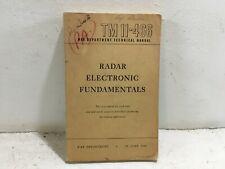 Tm 11-466. War Department Technical Manual. Radar Electronic Fundamentals.1944