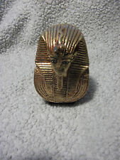 Vintage Mask Tut Gold Finish Egyptian Statue About 4.5in by 3in by 2.5in