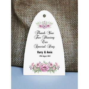Wedding Gift Tags | Wedding Favour Tags | Personalised Tags | Purple Flowers 1