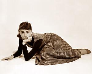 AUDREY HEPBURN SABRINA 1954 ACTRESS HOLLYWOOD MOVIE STAR SEPIA PHOTO