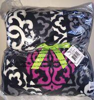 NEW VERA BRADLEY Throw Blanket Fleece CANTERBERRY MAGENTA NWT