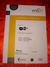 Singapore, WSTP 2002 Certificate of Attendance, UNC