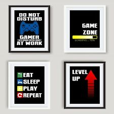 Gaming Prints Games Room Wall Art Poster Xbox PS4 Boy Bedroom Decor Gamer Gifts