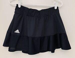 Women's Large L Adidas Tennis Workout Skirt Skort Black Aeroready Mesh Accent