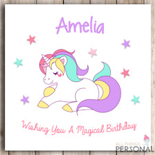 Personalised Unicorn Birthday Card Daughter Niece Granddaughter Sister Girl