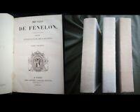 Oeuvres de Fénélon  3 tomes étude sur sa vie par Aimé Martin 1835