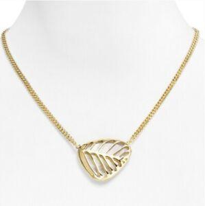 Kendra Scott mother of Pearl Merritt Necklace gold tone reversible