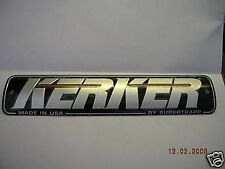 kerker exhaust pipe name plate badge