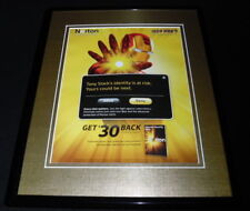 Iron Man 2010 Symantec Norton Framed 11x14 ORIGINAL Advertisement