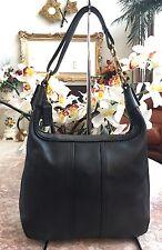 Coach Vintage Soft Black Leather Satchel Hobo Shoulder Handbag Purse #6950 EUC
