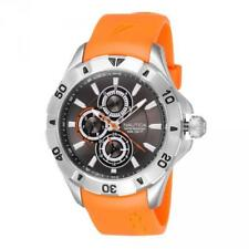 Mens Watch NAUTICA  NST 06 A14612G Multifunction Silicone Orange Gray