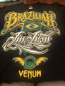 Brazilian Jiu Jitsu By Venum  World Mens Large Tshirt Made In Brazil Workout