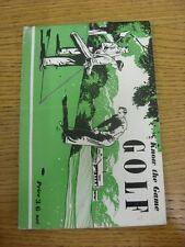 """Circa 1952 Golf: conozca el juego serie - """"golf"""", libro de 32 páginas, producido por Educat"""