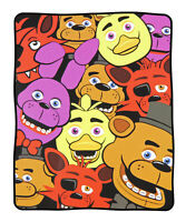 """Five Nights at Freddy's Group All Over Print 48"""" X 60"""" Plush Throw Blanket"""