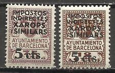 2700A-2 SELLOS DIFERENTES BARCELONA MNH ** 5+12 Y 5+75 CTS.HABILITADOS