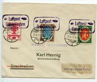 GERMANY 1919 `Luftpost Gelsenkirchen` Deutsche Luftpost Reederei - to Berlin