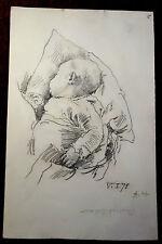 "Matita Disegno, Schizzo, studio, agosto Holmberg, ""Baby, Barthel BEHAM"" 1878"