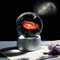 Crystal Galaxy Ball Glass 3d Led Universe Sphere Ornament Home Decor Accessories