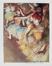 EDGAR DEGAS BALLET DANCERS Estate Signed & Stamped Limited Edition Small Giclee