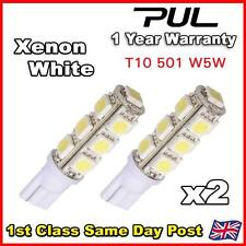 2x 13 SMD LED 501 W5W T10 SIDE LIGHT BULBS XENON WHITE HID BRIGHT 6000k UK STOCK
