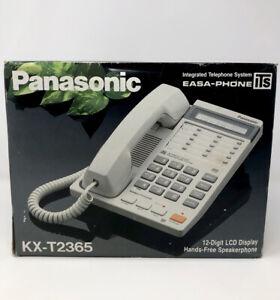 NEW Panasonic KX-T2365 12-Digit LCD Display Hands-Free Speakerhone Easa-Phone
