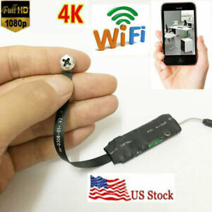 Spy Nanny Cam 1080p HD wireless Mini WiFi Hidden pinhole DIY Screw camera DVR