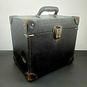 Vintage Hard Case Steam Punk Style Luggage Movie Projector Repurpose Handled Box