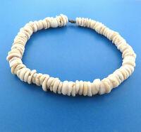 "Vintage Puka Shell Hawaiian Necklace 14mm 15.25"""