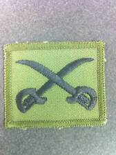 New Crossed Swords PTI Patch on Olive  55mm x 45mm