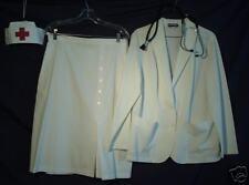 Authentic Nurse Two-piece Uniform and Hat - Size: 14/16!