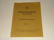 Betriebsanleitung Mercedes Benz W136 Typ 170 170D 170 Da Stand 6/1950
