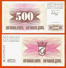 P14  Bosnien  Bosnia Herzegovina   500  Dinara  1992  UNC