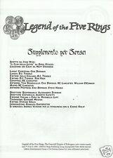 LEGENDS OF THE FIVE RINGS SUPPLEMENTO PER SENSEI (21st Century Games, 1998)