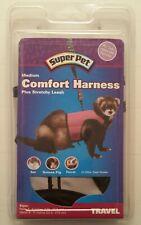 SUPER PET Rat Ferret Guinea Pig Medium Comfort Harness Plus Stretchy Leash NEW