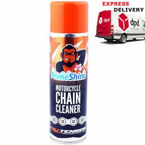 Prime Shine Motorcycle Motorbike Chain Cleaner 500ml Aerosol Spray Chain Monkey