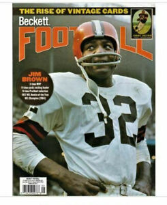 New September 2021 Beckett Football Card Price Guide Magazine With Jim Brown