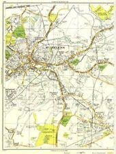 Innovazione. ST. Helens, Sutton rovere, peasley Cross, Ravenhead, Parr, gerards Bridge 1935 Mappa