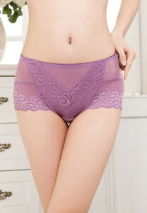 1 Pack Ladies Sexy Lace Briefs High Waist Breathable Knickers Lingerie,Sz 10 12