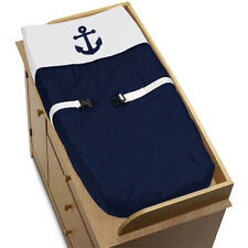 Sweet Jojo Changing Table Pad Cover For Navy White Nautical Anchor Baby Bedding